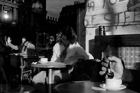 France, Paris, Place du Chatelet, Cafe Sarah Bernhardt