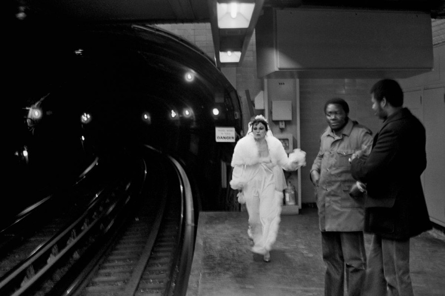 "France, Paris, Metro Denfert Rochereau, Operation ""Coups de Theatre dans le Metro"