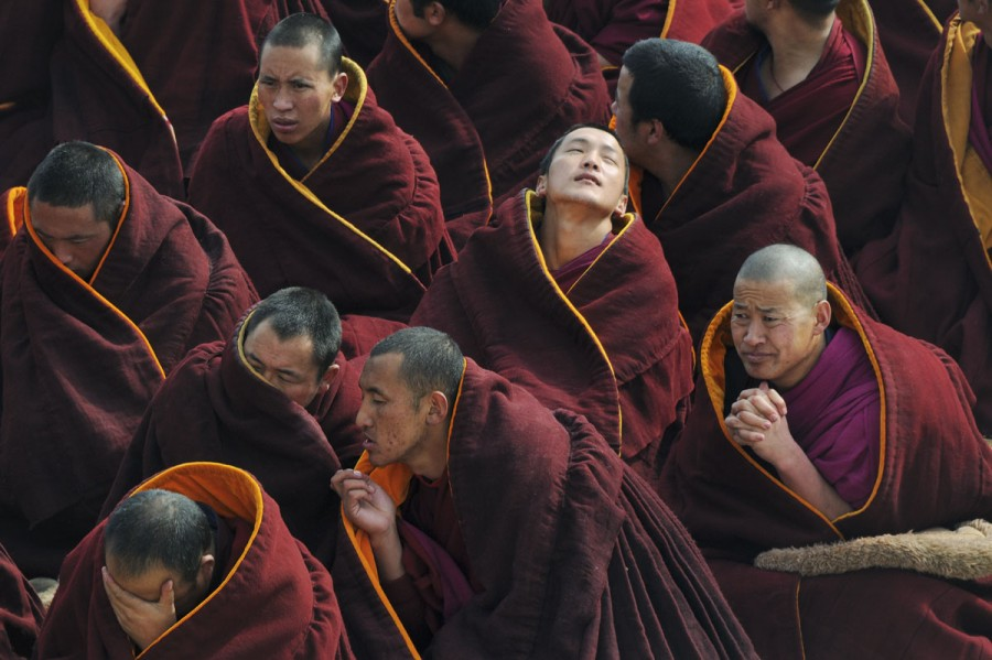 China, Gansu, Amdo, Xiahe, Monastery of Labrang (Labuleng Si), Losar (New Year festival)